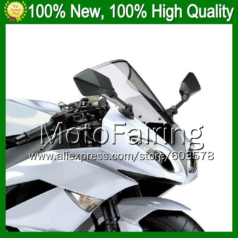 Light Smoke Windscreen For KAWASAKI NINJA ZXR400 89-91 ZXR 400 ZX400 ZXR-400 89 90 91 1989 1990 1991 #/0 Windshield Screen