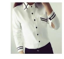 Buy Fashion female elegant bow tie Autumn white blouses Chiffon Casual Korean shirt Women school blouse Lady tops Plus Size Clothing for $10.29 in AliExpress store