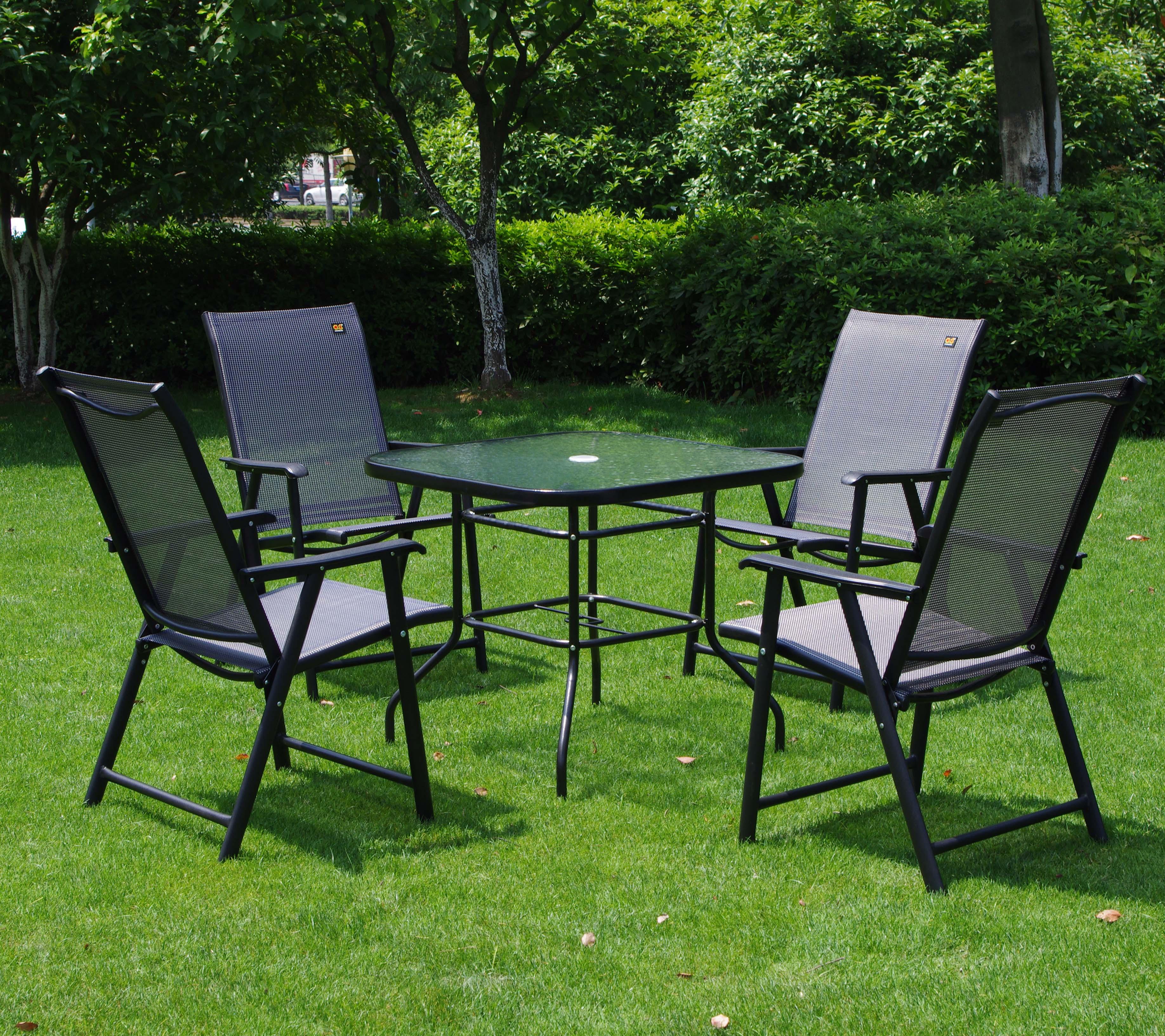 Tablas del patio del hierro compra lotes baratos de - Muebles jardin hierro ...