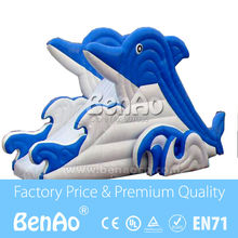 L007 Free shipping giant dolphin inflatable water slide /giant inflatable slide for kids / cheap inflatable water slide for sale(China (Mainland))