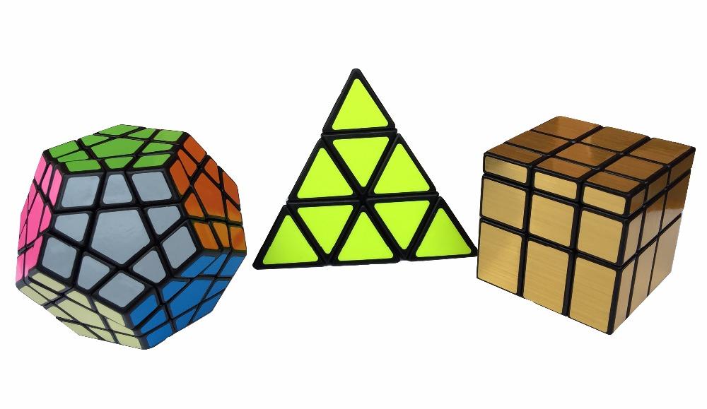 Shengshou Mirror Pyraminx Megaminx Speed Solving Magic Cube Puzzle Sets 3PCS/Lot(China (Mainland))