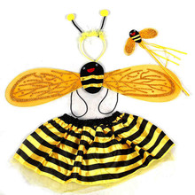 2015 New Arrival Girl Cosplay Bee Costume Dress Halloween Carnival Masquerade Party Animal Costume Stage Performance Costume