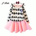 New Retails children girls clothing sets spring autumn minnie mouse long sleeve cotton fleece shirt  top +midi skirt, 6 colors