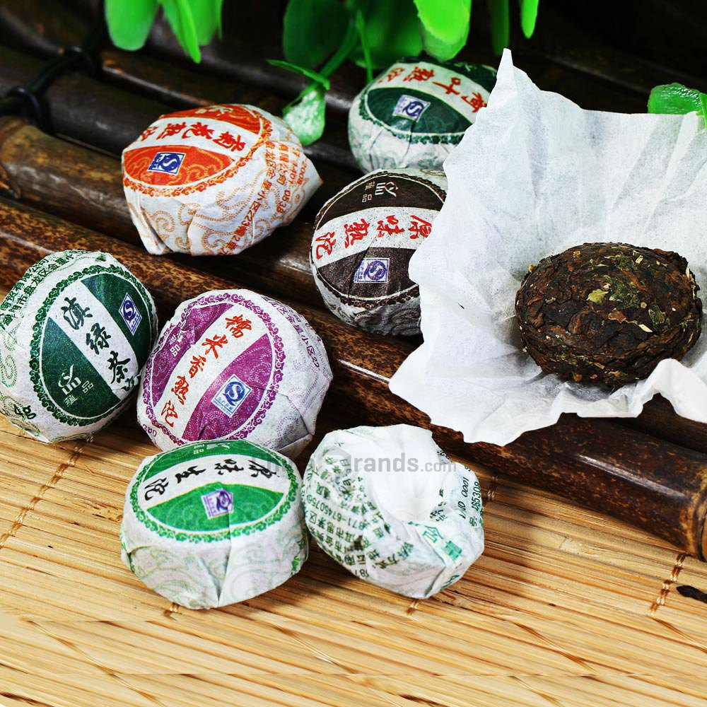 чай пуэр из китая разный