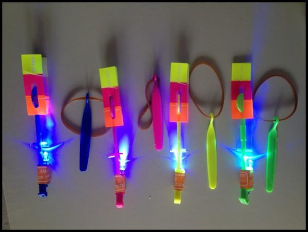 200pcs/lot LED Rocket Flashing boy toys Luminous Toy Amazing Arrow Helicopter Kid's Led Flying Toy for kid's Gift(China (Mainland))