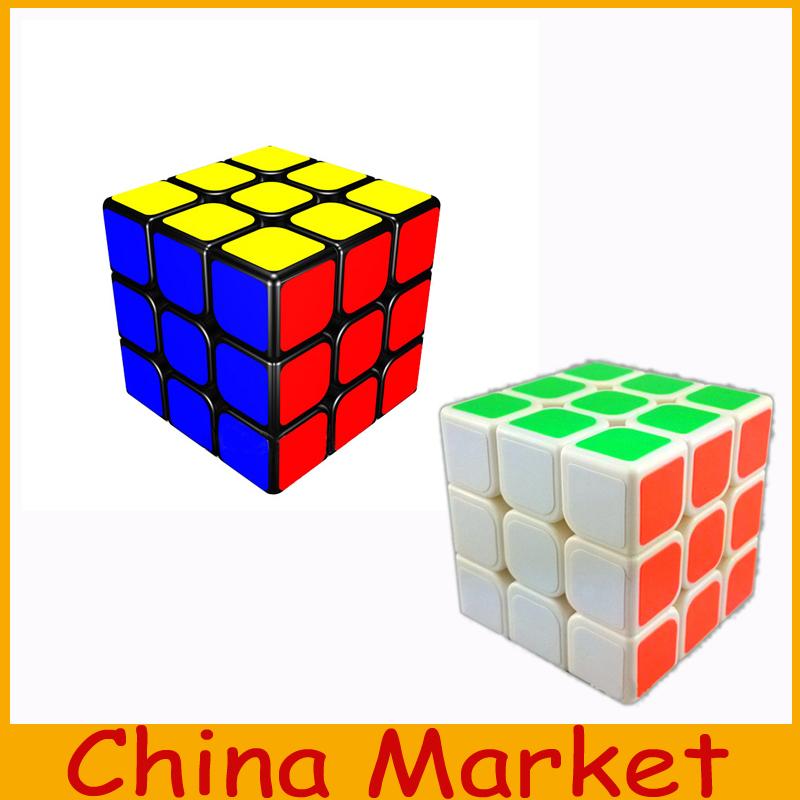 2015 New High Quality Cheap YongJun Shengshou 3x3x3 Black/white Twist Spring Speed Magic Cube Puzzle Toy Gift+Free Shipping(China (Mainland))