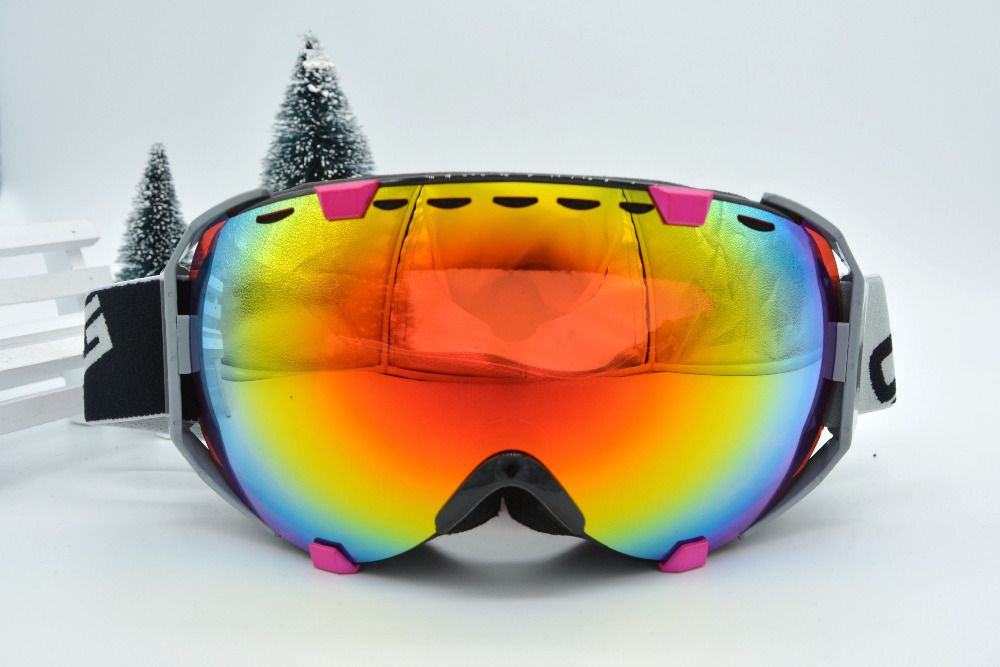 Free Shipping 2015 new Skiing Eyewear Double Layer Large Snow Goggle compatible Protection Anti Fog Ski Googles 2008<br><br>Aliexpress