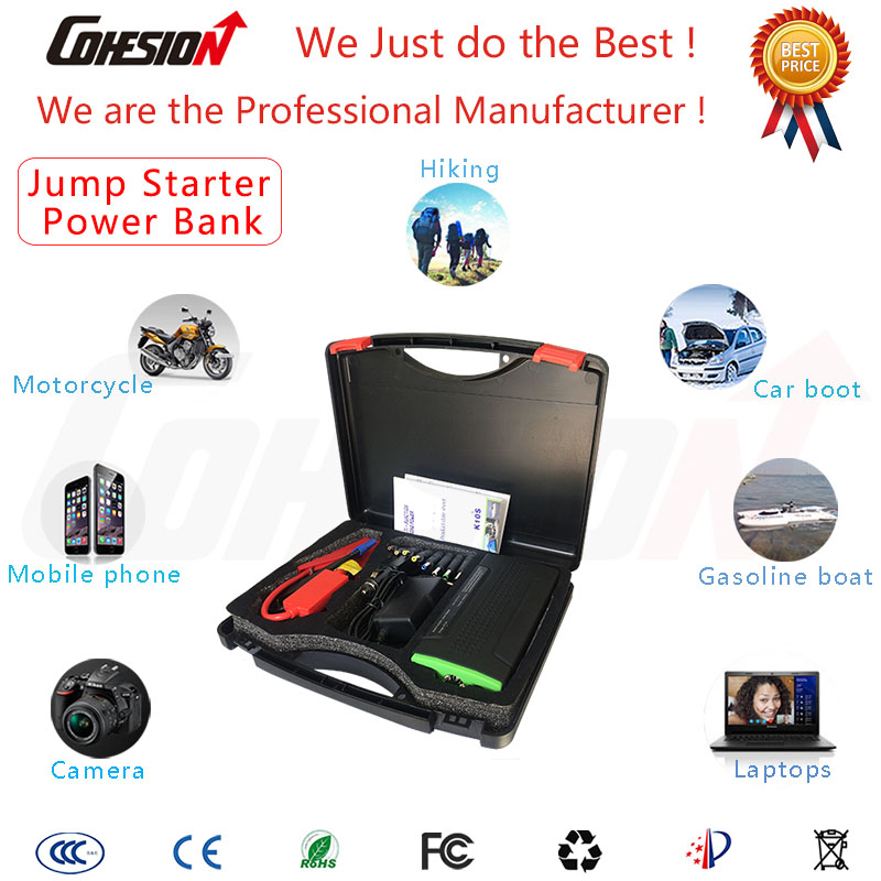 super power bank 12800mah multi-function mini portable car jump engine starter charger emergency battery for mobile phone laptop