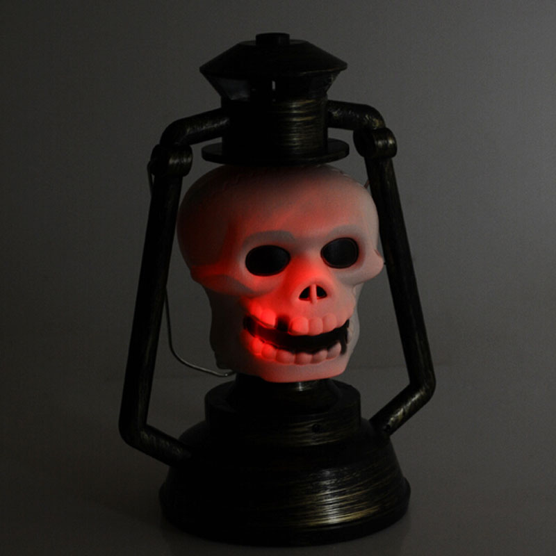 Pumpkin/Skull Hand Lamp Lantern with Light Ghosty Laughter Halloween Decoration wholesale(China (Mainland))