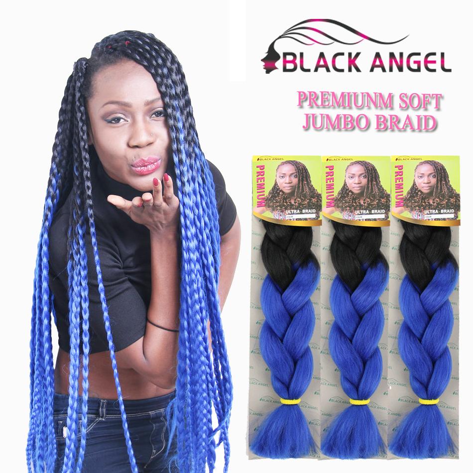 1 10pack Two Tone Ombre Xpression Braiding Hair Kanekalon