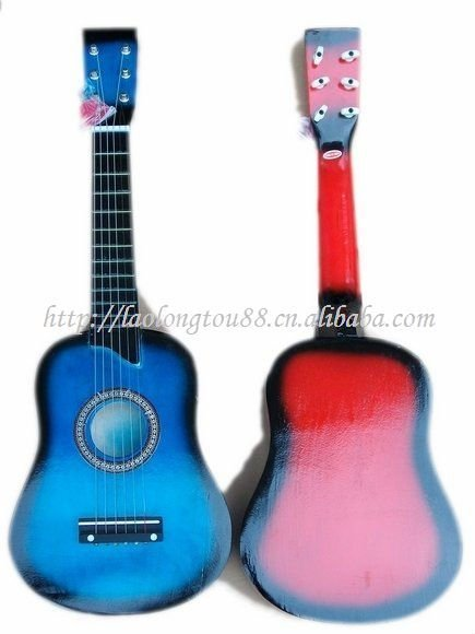 six string small guitars,Children's toys, entertainment, Musical Instruments, performing props,mini guitars,Wholesale Retail(China (Mainland))
