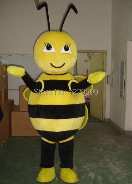 Bee mascot costume adult bee Adult Size Fancy Dress Cartoon Character Party Outfits Suit, - Mascot Costumes Store store