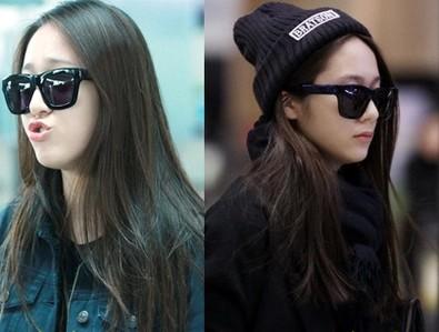 2015 kpop FX fx Krystal cool black sunglasses summer style women sun glasses anti uva uvb korean fashion star item it girls(China (Mainland))