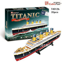 "CUBICFUN CUBIC FUN 3D Puzzle Paper Model, TITANIC Ship Parts Kit, DIY Toy Ship Model- T4012h(35pcs), 45x13x6cm(17.7""x5.1""x2.4"")(China (Mainland))"