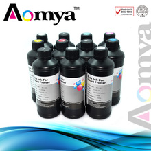 Aomya specialize ink 10x500ml Real UV ink , UV LED Ink,can print on everything(phone shell ink)
