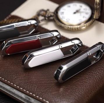 KeyChain leather 4G 8GB 16GB 32GB White Black Red Gray pendrive memory stick Nice Gift Metal 2.0 USB Flash Drive Free shipping(China (Mainland))
