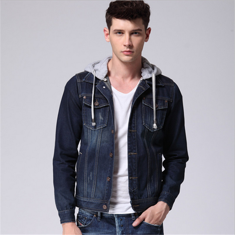 High Quality Denim Jacket with Hoodie Men-Buy Cheap Denim Jacket ...