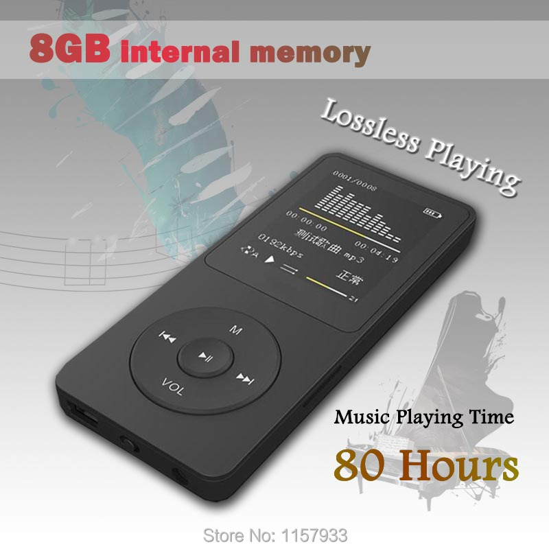 """High quality real 8GB 80 Hours lossless Music playing MP3 player 1.8"""" TFT screen MP3 E-book photo Music FM radio Clock Data(China (Mainland))"""