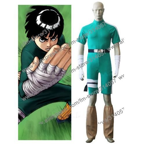Freeshipping-anime products  Naruto Rock Lee Cosplay Costume