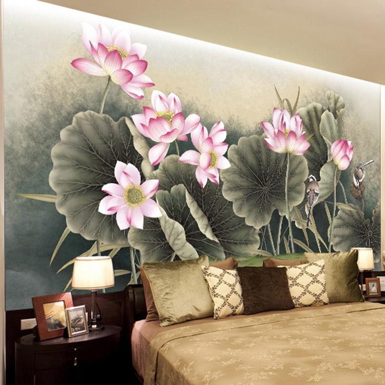 Buy Lotus Flower Bird Wallpaper Beautiful