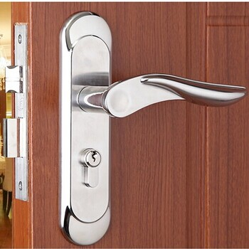Free Shipping Double Bolts Mortise Lock European Style Exterior Interior Handle Door Lock