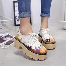 Новый Модный Бренд Женской Обуви Насосы Высокие Каблуки Дамы Туфли На Платформе Осень Кожаные Сапоги creepers женщины(China (Mainland))