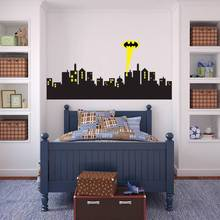 Buy Removable Wall sticker GOTHAM CITY SKYLINE Batman Decal Removable WALL STICKER Home Decor Art for $10.99 in AliExpress store
