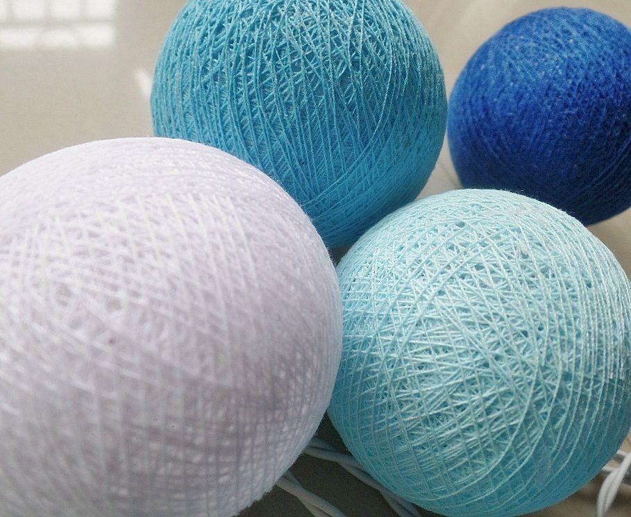 2015 new design NAVY BLUE TONE cotton ball string lights , Fairy,Wedding,party,Patio Decor(China (Mainland))