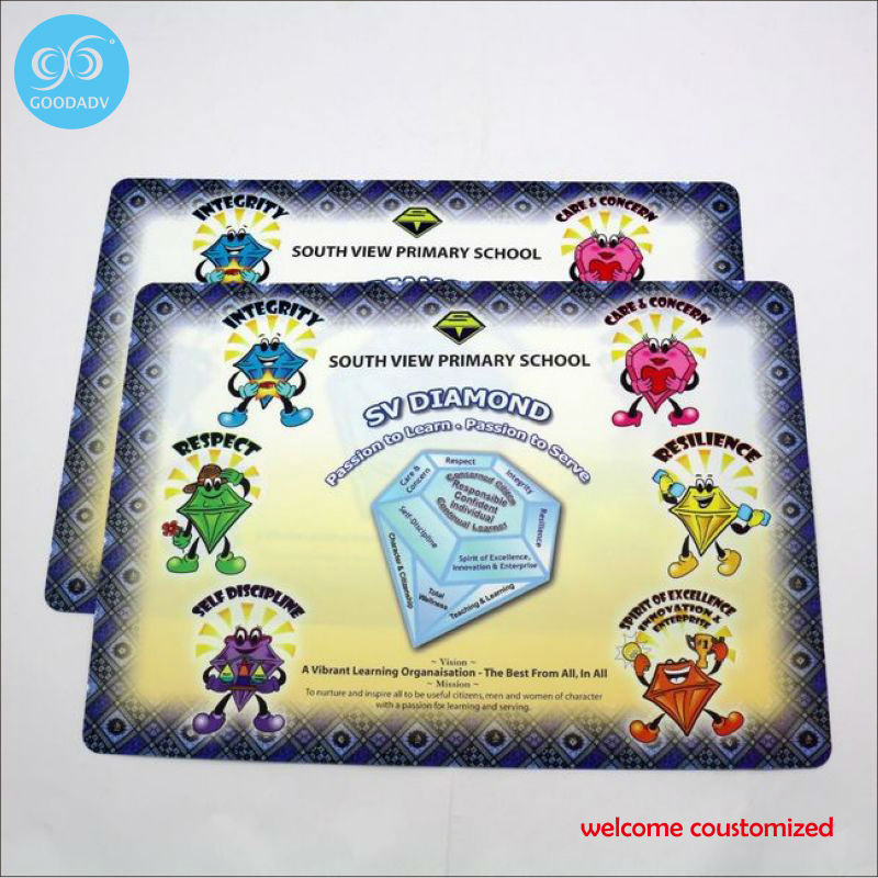 custom high quality cheap placemat/PP plastic mat/pp dining table mat waterproof slip-resistant pad(China (Mainland))