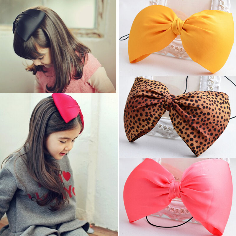 Free Shipping Lovely Baby Kids Girls Toddler Bowknot Headband Hair Bow Band Head Decor Accessories(China (Mainland))