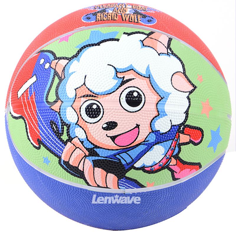 Lenwave Brand Size 5 Rubber Basketball Ball Kids Pleasant Goat Series Sport Equipment(China (Mainland))