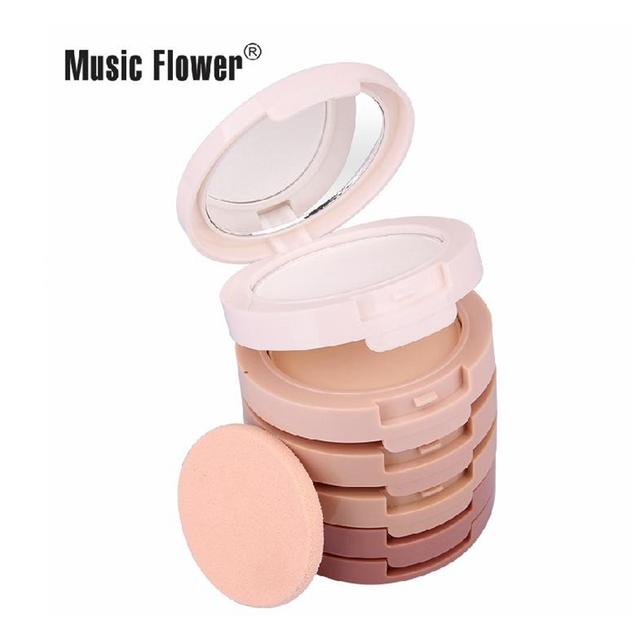 Марка макияж натуральная минеральная пудра 5 цвета kit / lot составляют лица пудра ...