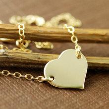 Sale Tiny Heart Necklace Fancy Letter necklaces for women Wholesale Jewelry 316l Titanium steel