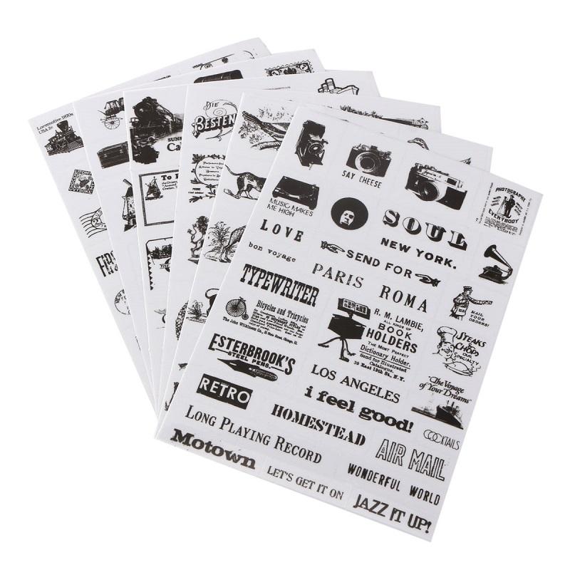 6pcs/set Retro Design Vintage Stamp Paper Diary Book Sticker DIY Scrapbooking Paper Stickers Planner Label Decoration<br><br>Aliexpress