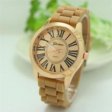 NEW Geneva Watch women Fashion Quartz Watches Silicone Young Sports Women gold watch Casual Dress Wristwatches