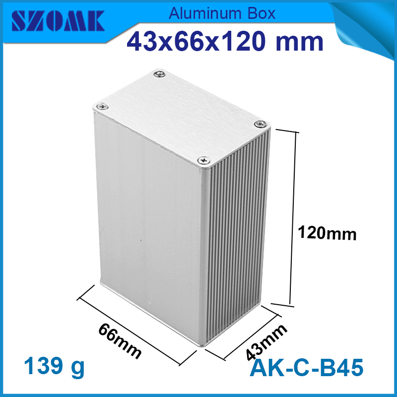 1 piece cheap Made in China High quality aluminum junction electronics diy pcb design enclosures 42.7*65.8*100mm(China (Mainland))
