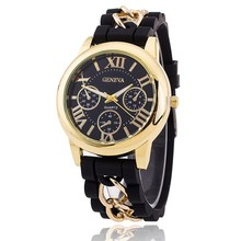 Hot Fashion Silicone Geneva Watches Fashion Women Chain Watch Ladies Dress Wrist Watches Relogio Feminino BW1173
