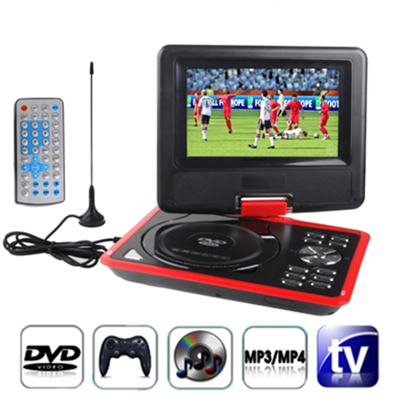 """7.5"""" Portable DVD Player with Swivel Screen Supports SD Card and USB Direct Play in Formats MP4/AVI/RMVB/MP3/JPEG(China (Mainland))"""