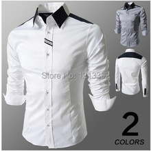 2014 The New Men's Spring Fashion Webbing Long-sleeved Shirt Long-sleeved men shirts Slim  BS88