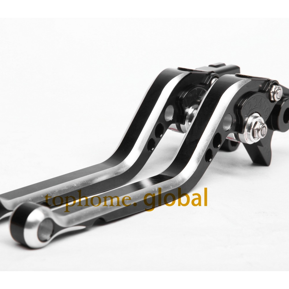 CNC Motorcycles Brake Clutch Levers Regular size Mixed Black&Silver Color For Yamaha FJR 1300 2004-2005 2006 2007 2008 2009-2014(China (Mainland))