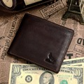 Fashion Vintage Designers Famous Brand 100 Genuine Leather Men Wallets Money Cowhide Clip Carteira Vertical VP