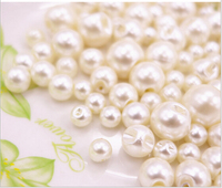 200 pcs handmade button  Mixed 6 sizes (6, 8,9, 10,12, 14 mm) imitation-pearl buttons  AE03144