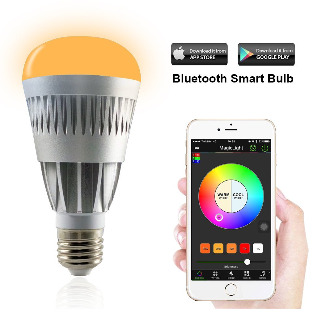 10W Magic Light Pro Bluetooth Smartphone Dimmable LED Light Bulb works for iPhone, iPad, Apple Watch, Android Phone and Tablet(China (Mainland))