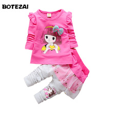 Buy 2017 fashion Spring Autumn baby girls sport outfits child clothing set suit set children T-shirt +pants clothes sets kids 2 pcs for $9.79 in AliExpress store