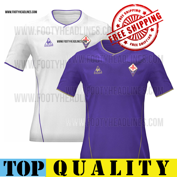 2015 fiorentina Jersey soccer AQUILANI 10 15 16 fiorentina home away white jerseys M.GOMEZ 33 ROSSI football shirts(China (Mainland))