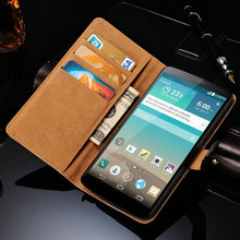 G3 Wallet Genuine Leather Case For LG Optimus G3 D850 D855 D830 Luxury Phone Bag Cover Flip Style With Card Slot Black Brown(China (Mainland))