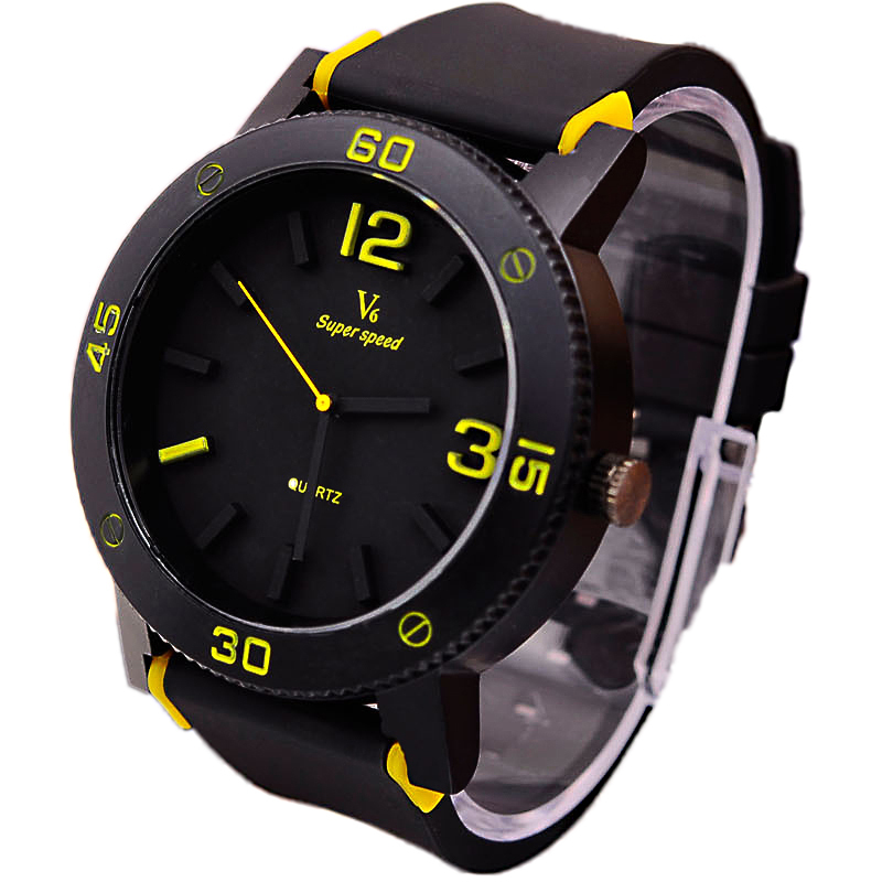 2015 Fashion Elegant Top Quality V6 Luxury Brand Leather Strap Quartz Watch Watches Men Ultra thin