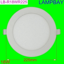 20 pieces/lot Free Shipping  led panel light  18W 8'' cutout 200mm slim downlight white face  high lumens high quality(China (Mainland))