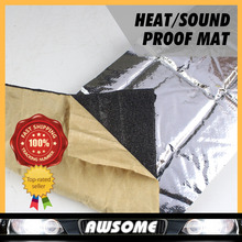 """30cmx100cm 12""""x40"""" CAR TRUCK Auto Heat SOUND Control Shield FOIL INSULATION Barrier Exhaust Muffler For Roof Hood Firewall(China (Mainland))"""