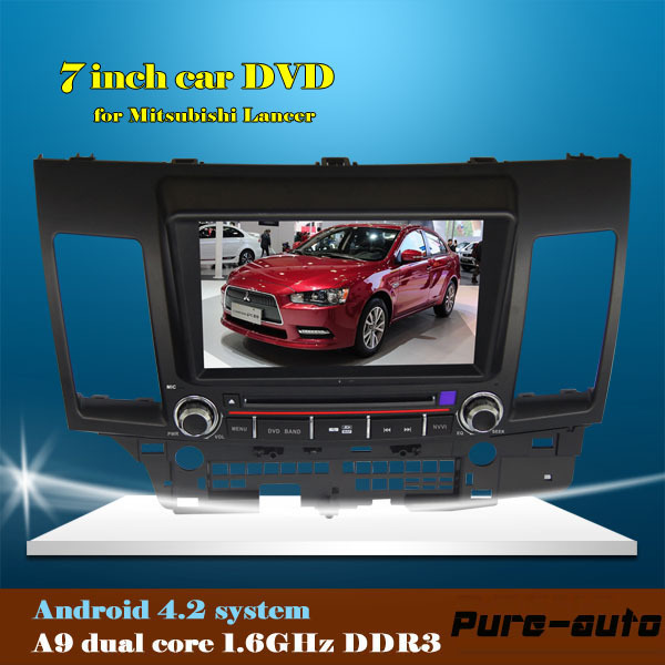 7 inch car dvd player for Mitsubishi Lancer with RDA radio audio bluetooth wifi built-in android car stereo(China (Mainland))